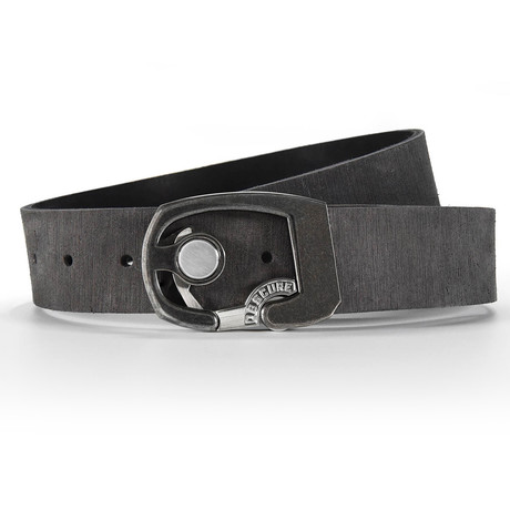 Aged Skeleton Rough Rider Belt // Gray (Size 32)