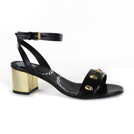 Leather Peep Toe Heel V2 // Black (Euro: 35)