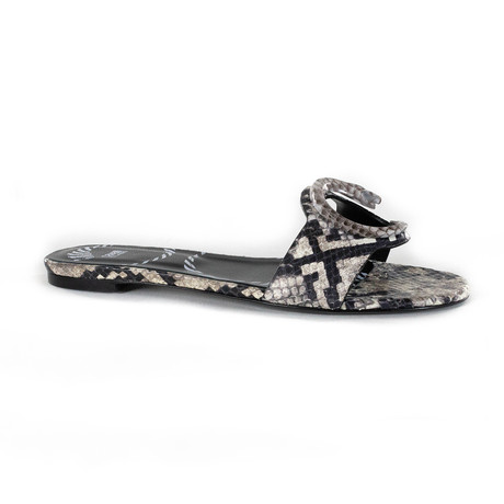 Snake Print Sandal // Gray (Euro: 35)