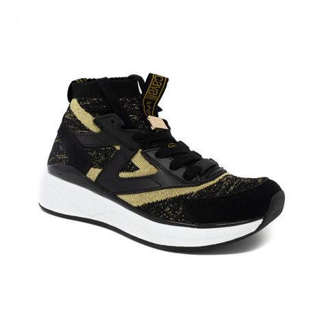Leather + Mesh Sneaker // Black (Euro: 35)