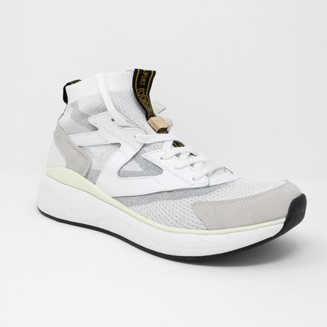Leather + Mesh Sneaker // White (Euro: 35)