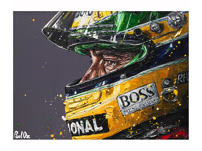 Photo of Paul Oz Canvases From F1's Official Artist Senna Profile 2018 by Touch Of Modern