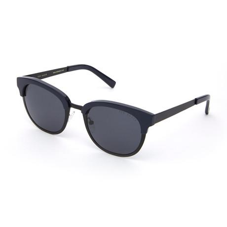 Men's Luka Round Polarized Sunglasses // Black