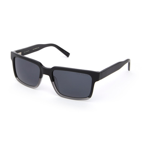 Men's Rocco Rectangle Polarized Sunglasses // Black Fade