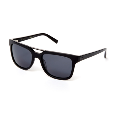 Men's Duncan Rectangle Polarized Sunglasses // Black