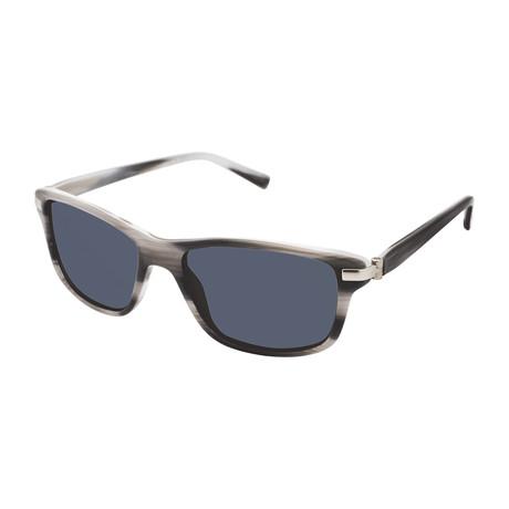 Uriel Rectangle Polarized Sunglasses // Gray Horn