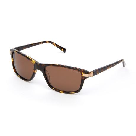 Moses Rectangle Polarized Sunglasses // Tortoise