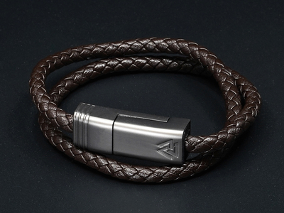 Photo of NOUON Wearable Keblar Charging Cables NILS Duo // Dark Chocolate // Lightning (S) by Touch Of Modern