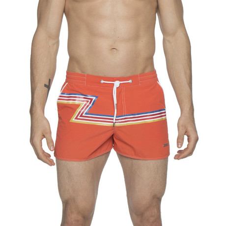 "2"" Barcelona Dry Cloth Swim Shorts // Orange Zed (XS)"