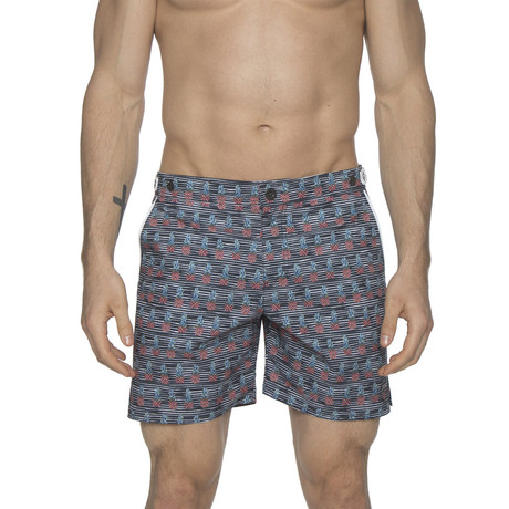 "6"" Catalonia Stretch Swim Short // Pineapple Black (28)"