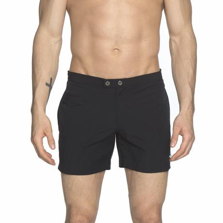 "5"" Lido Stretch Swim Short // Black + Black (28)"