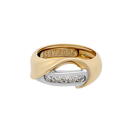 Vintage Staurino 18k Two-Tone Gold Diamond Ring // Ring Size: 6.5