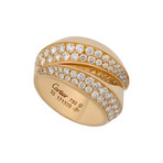 Vintage Cartier 18k Yellow Gold Panthere Glyph Diamond Ring // Ring Size: 5.25
