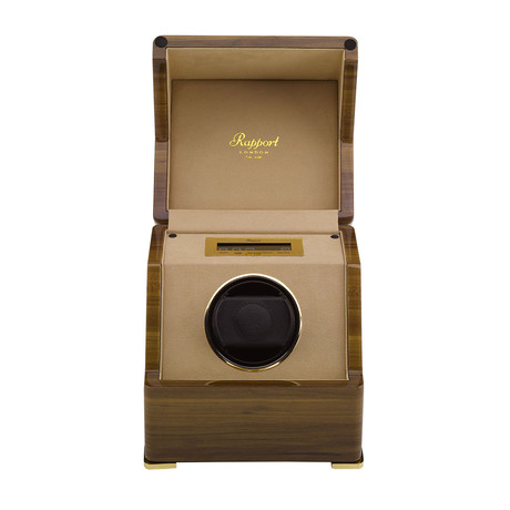 Rapport Perpetua III Single Watch Winder + Touch Screen // Walnut