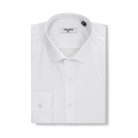 Joannes Slim Fit Cotton Shirt // White (S)
