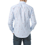 Watermelons Slim Fit Cotton Shirt // Blue (XL)