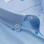 Turtles Slim Fit Cotton Shirt // Blue (S)