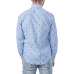 Turtles Slim Fit Cotton Shirt // Blue (XL)
