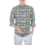 Sebastian Palm Long-Sleeve Button Up // Green (2XL)