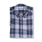 Dmitri Short-Sleeve Button Down // Blue (S)