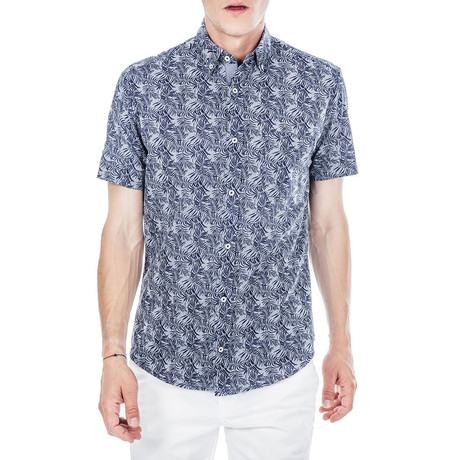 Sergei Short-Sleeve Button Down // Blue (S)