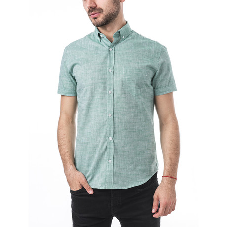 Verdi Short-Sleeve Button Down // Green (S)