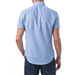 Ravel Short-Sleeve Button Down // Blue (M)