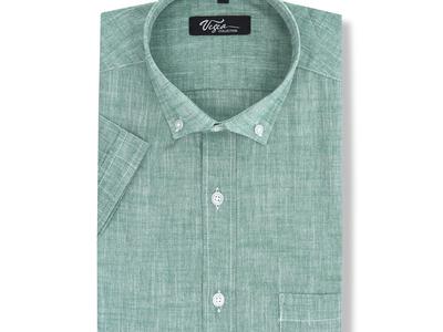 Photo of Vegea Essential Button Down Shirts Verdi Short-sleeve Button Down // Green (M) by Touch Of Modern