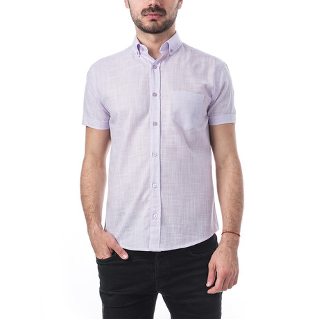 Strauss Short-Sleeve Button Down // Lavender (S)