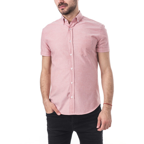 Giuseppe Short-Sleeve Button Down // Pink (S)
