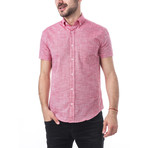 Gustav Short-Sleeve Button Down // Red (L)