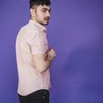 Giuseppe Short-Sleeve Button Down // Pink (L)