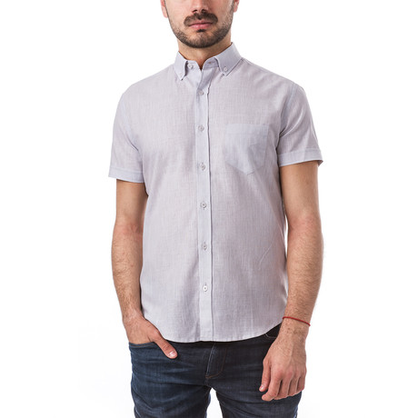 Rimsky Short-Sleeve Button Down // Gray (S)