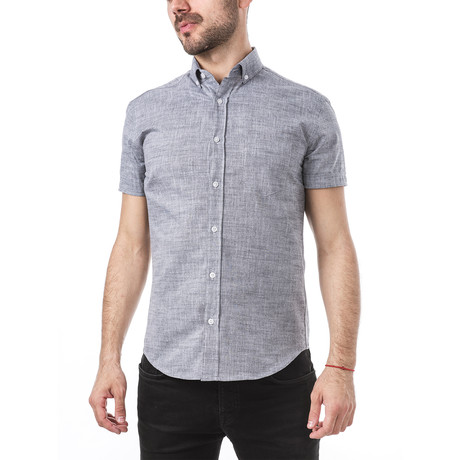 Rossini Short-Sleeve Button Down // Slate (S)