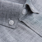 Rossini Short-Sleeve Button Down // Slate (L)
