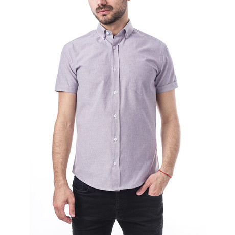 Niccolo Short-Sleeve Button Down // Purple (S)