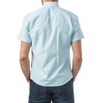 Elgar Short-Sleeve Button Up // Turquoise (XL)