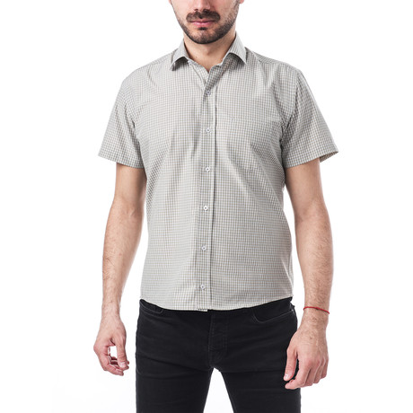 Vaughan Short-Sleeve Button Up // Khaki (S)