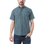 Sibelius Short-Sleeve Button Down // Green (L)