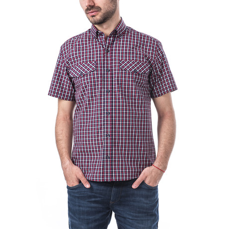 Giacomo Short-Sleeve Button Down // Red (S)