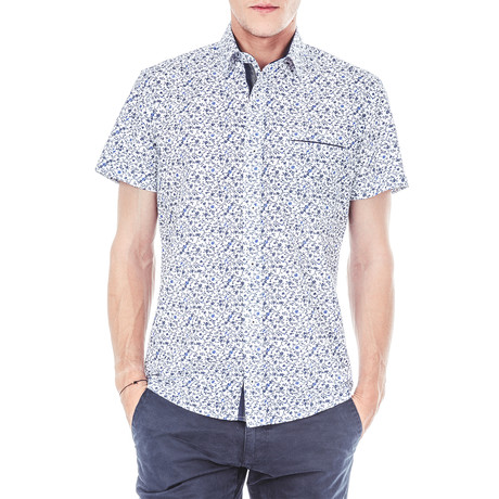 Franz Short-Sleeve Button Up // White (S)