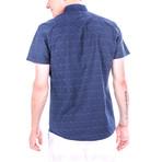 Handel Short-Sleeve Button Up // Blue (S)