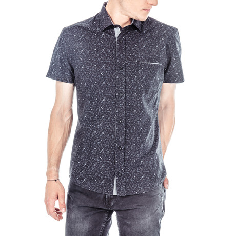 Johann Short-Sleeve Button Up // Black (S)