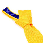 Tricot Knitted Tie // Yellow