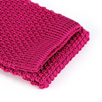 Tricot Knitted Tie // Fuchsia Pink