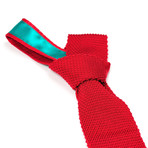 Tricot Knitted Tie // Red