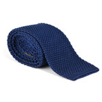 Tricot Knitted Tie // Navy Blue