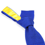 Tricot Knitted Tie // Royal Blue