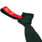 Tricot Knitted Tie // Bottle Green
