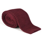 Tricot Knitted Tie // Burgundy